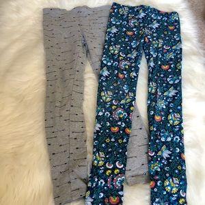 Set of 2 pairs of girls leggings